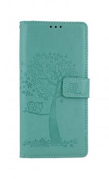 Knížkové pouzdro na Xiaomi Redmi Note 9 Zelený strom sovičky