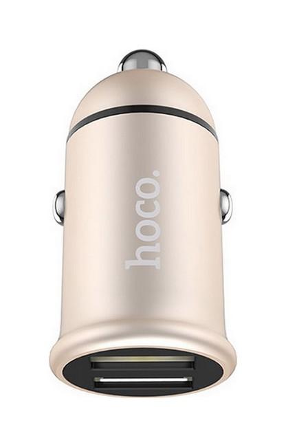 Autodobíječ HOCO Z30 Dual Easy Route 3.1A zlatý 50757