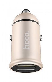 Autodobíječ HOCO Z30 Dual Easy Route 3.1A zlatý
