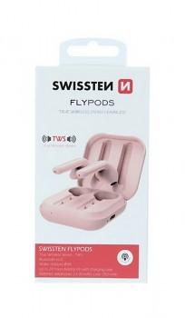 Bluetooth sluchátka SWISSTEN Flypods růžová