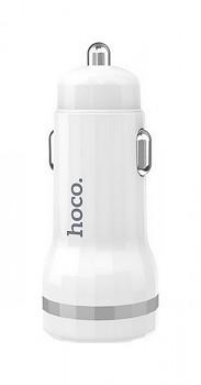 Autodobíječ HOCO Z27 Dual 2.4A bílý