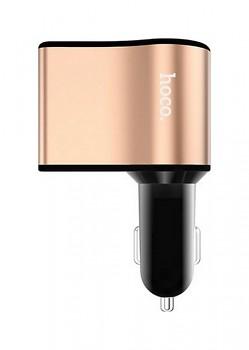 Autodobíječ HOCO Z10 Dual 2.1A s LED displejem černo-měděný