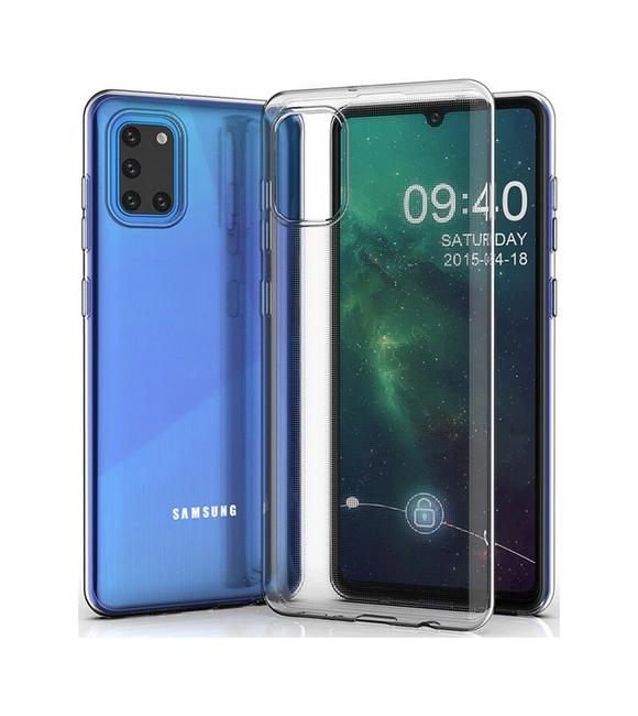 Ultratenký silikonový kryt na Samsung A31 0,5 mm průhledný