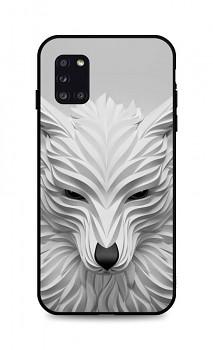 Zadní pevný kryt LUXURY na Samsung A31 Bílý vlk
