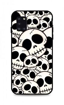 Zadní pevný kryt LUXURY na Samsung A31 Skulls
