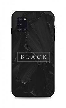 Zadní pevný kryt LUXURY na Samsung A31 Black