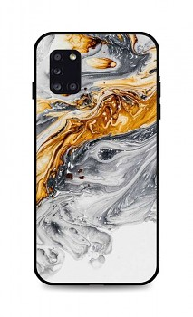 Zadní pevný kryt LUXURY na Samsung A31 Marble šedo-zlatý