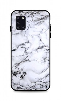 Zadní pevný kryt LUXURY na Samsung A31 Marble White