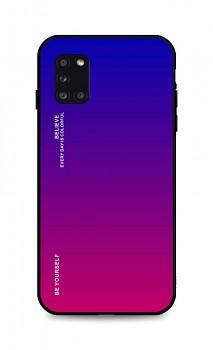 Zadní pevný kryt LUXURY na Samsung A31 duhový fialový