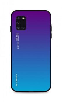 Zadní pevný kryt LUXURY na Samsung A31 duhový purpurový
