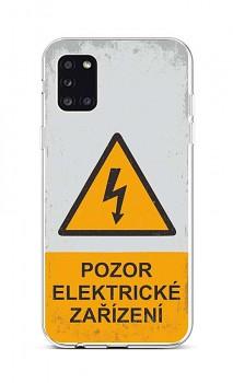 Zadní silikonový kryt na Samsung A31 Pozor elektrické zařízení
