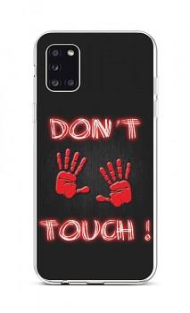 Zadní silikonový kryt na Samsung A31 Don't Touch Red
