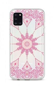 Zadní silikonový kryt na Samsung A31 Pink Mandala