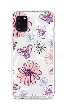 Zadní silikonový kryt na Samsung A31 Flowers