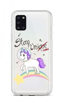Zadní silikonový kryt na Samsung A31 Stay Unicorn