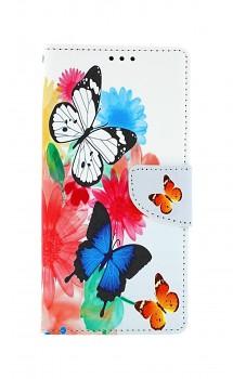 Knížkové pouzdro na Xiaomi Redmi 9 Barevné s motýlky