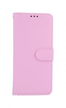 Knížkové pouzdro na Samsung A31 světle růžové s přezkou