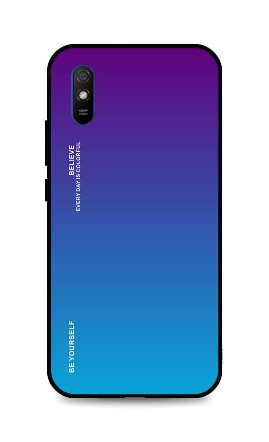 Zadní pevný kryt LUXURY na Xiaomi Redmi 9A duhový purpurový
