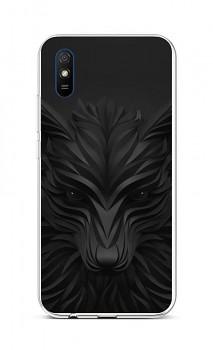 Zadní silikonový kryt na Xiaomi Redmi 9A Černý vlk