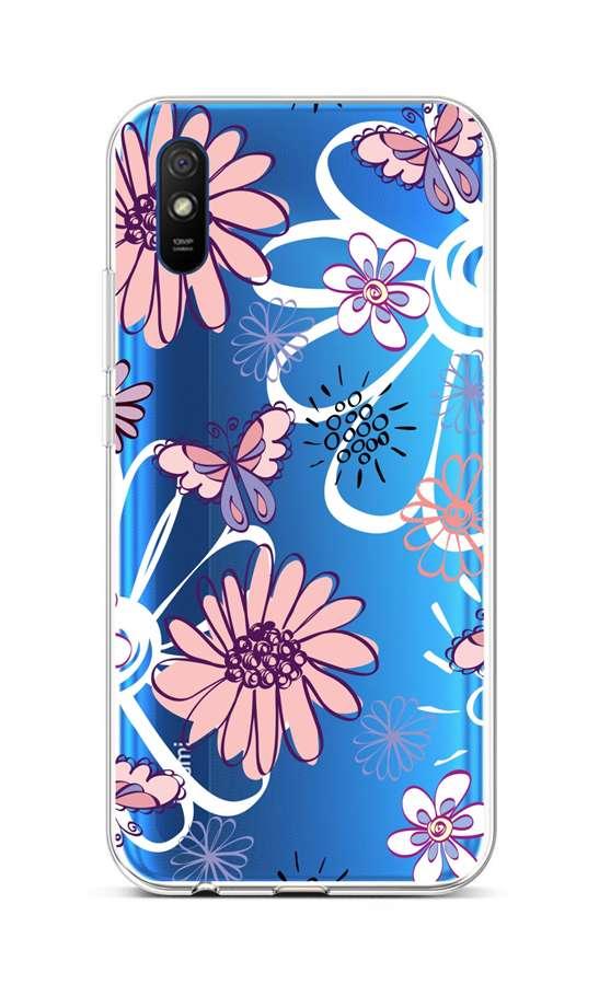Zadní silikonový kryt na Xiaomi Redmi 9A Flowers