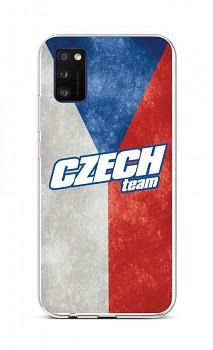 Zadní silikonový kryt na Samsung A41 Czech Team