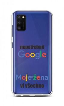 Zadní silikonový kryt na Samsung A41 Google
