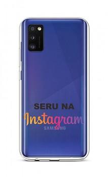 Zadní silikonový kryt na Samsung A41 Instagram