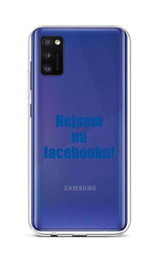Kryt TopQ Samsung A41 silikon Nejsem na Facebooku 51409 (pouzdro neboli obal na mobil Samsung A41)