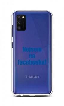 Zadní silikonový kryt na Samsung A41 Nejsem na Facebooku
