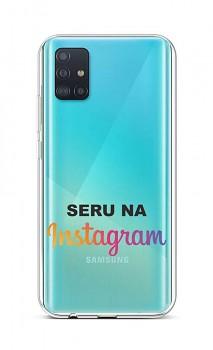Zadní silikonový kryt na Samsung A51 Instagram