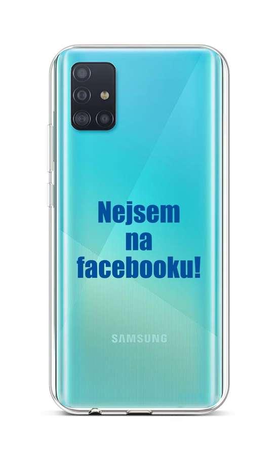 Kryt TopQ Samsung A51 silikon Nejsem na Facebooku 51412 (pouzdro neboli obal na mobil Samsung A51)