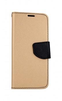 Knížkové pouzdro na Samsung A41 zlato-černé