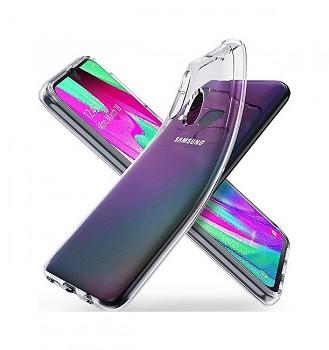 Zadní silikonový kryt na Samsung A40 2 mm průhledný
