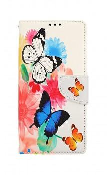 Knížkové pouzdro na Xiaomi Redmi 9A Barevné s motýlky