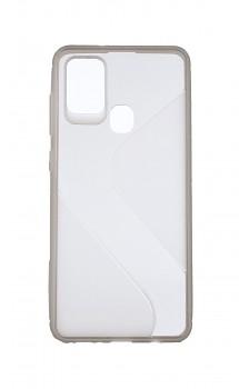 Zadní silikonový kryt na Samsung A21s S-line tmavý