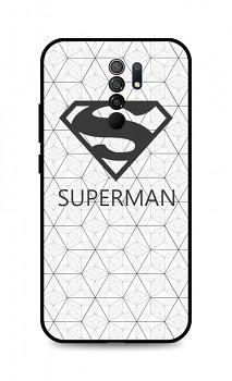 Zadní 3D silikonový kryt na Xiaomi Redmi 9 Bílý Superman