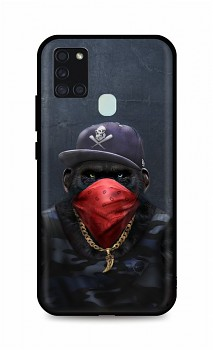 Zadní silikonový kryt DARK na Samsung A21s Monkey Gangster