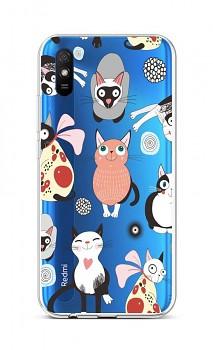 Zadní silikonový kryt na Xiaomi Redmi 9A Cats 2