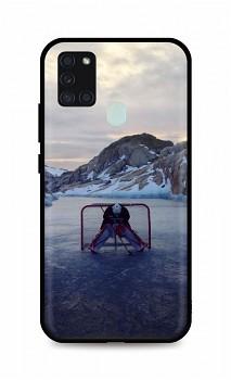 Zadní silikonový kryt DARK na Samsung A21s Hockey Goalie