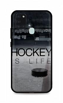 Zadní silikonový kryt DARK na Samsung A21s Hockey Is Life