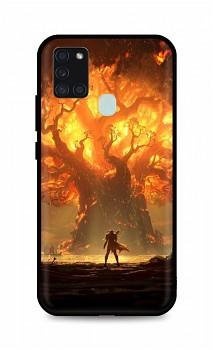 Zadní silikonový kryt DARK na Samsung A21s Warcraft