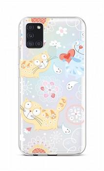 Zadní silikonový kryt na Samsung A21s Happy Cats