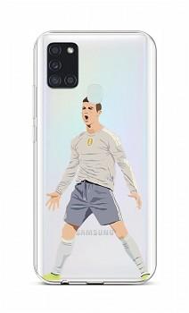 Zadní silikonový kryt na Samsung A21s Fotbalista