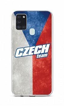 Zadní silikonový kryt na Samsung A21s Czech Team