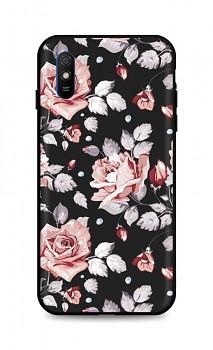 Zadní pevný kryt LUXURY na Xiaomi Redmi 9A Black Roses