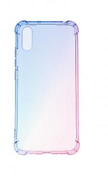 Zadní silikonový kryt na Xiaomi Redmi 9A Shock duhový modro-růžový