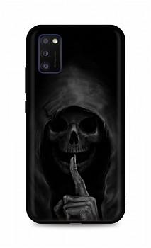 Zadní silikonový kryt DARK na Samsung A41 Dark Grim Reaper