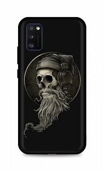 Zadní silikonový kryt DARK na Samsung A41 Music Skeleton