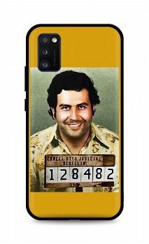 Zadní silikonový kryt DARK na Samsung A41 Pablo Escobar