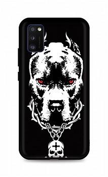 Zadní silikonový kryt DARK na Samsung A41 Fighting Dog
